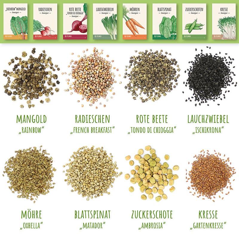 MycoGreens Saatgut Set - 8 alte Sorten Gemüse samenfest 9